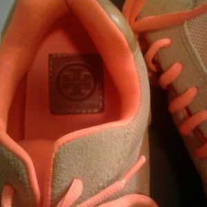Tory Burch Shoes - Tory Burch neon orange sneakers. Worn a few times!